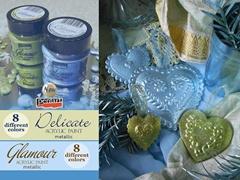 Pentart Delicate metál akrilfestékek – többféle színben