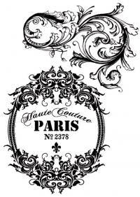 A4 Transzfer papír – 2 ív A4 Párizs vintage feliratok DFTR041