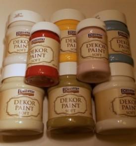 Pentart Dekorfesték lágy (Dekor Paint Soft) 100 ml – többféle színben