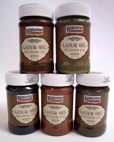 Pentart Lazúrgél kültéri használatra 100 ml – többféle színben