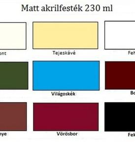 Pentart Akrilfesték, matt 230 ml – különböző színekben