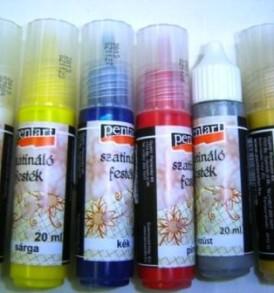 Pentart Szatináló festék 20 ml – különböző színekben