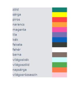 Pentart tempera festék 100 ml különböző színek