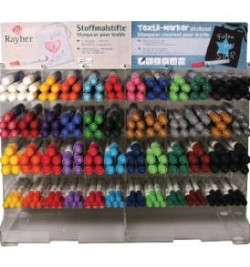 Textilfestő toll, fedő, lekerekített hegy 2-4 mm, szelepes, különböző színek
