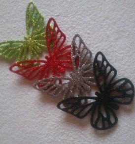 Dekorgumi glitteres, öntapadós A/4 – többféle színben, 10 db/csomag
