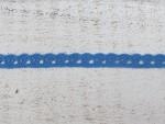 Égkék színű pamut csipke 1 cm x 2 méteres és 20 méteres kiszerelésben