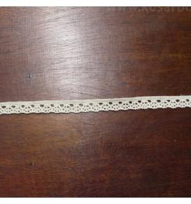 Ekrü pamut csipke 1cm*2 méteres és 20 méteres kiszerelésben