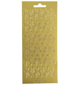 Kontúrmatrica: kereszt, arany, 10×23 cm