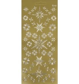Kontúrmatrica: csillagok, arany, 10×23 cm