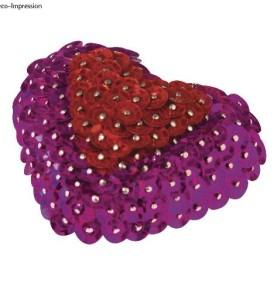 Flitteres egység csomag – 6 db hungarocell szív