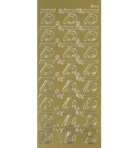 Kontúrmatrica: 75, arany, ív 10×23 cm, 1 db