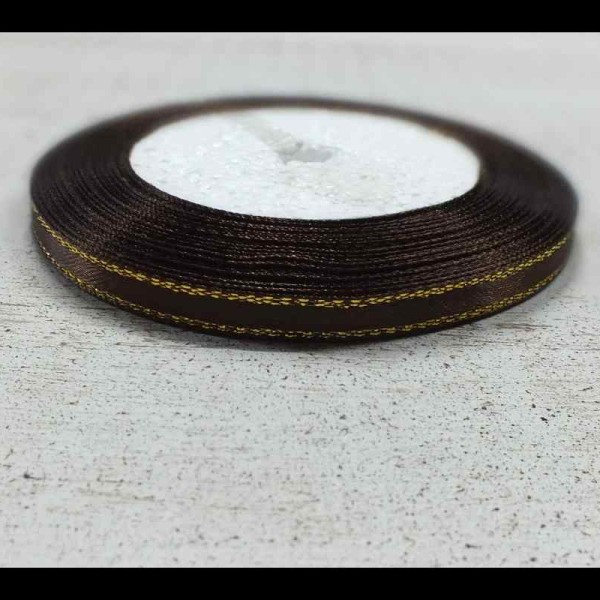 Kispesti Kreatív » Szalag szatén arany szegéllyel csoki 6 mm 23 m 5f4ce63b2c