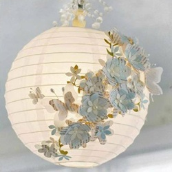 "Papír lampion ""lámpabúra"" 30 cm – fehér"