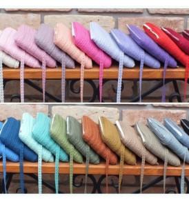 Babakék színű pamut csipke 1 cm x 2 méteres és 20 méteres kiszerelésben