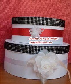 Papír doboz kerek – fehér színű 3 db/szett, kalapdoboz 20 cm, 25 cm, 30 cm