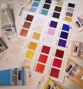Krémes akrilfesték, selyemfényű, 60 ml – különböző színekben