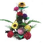Nyomóforma 5-féle, levél+virágok