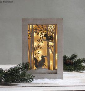 Fa építőkészlet 3D-s keret, erdő, 20x30x6,6 cm, 15 darabos
