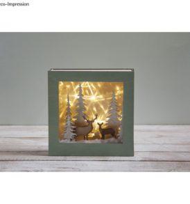 Fa építőkészlet 3D-s keret, téli tájkép, 20x20x6,6 cm, 14 darabos