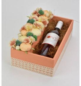 Natúr fa süti+virág kínáló