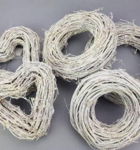 Vessző koszorú dekoráció 35 cm