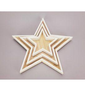 3 darabos fehér csillag tál szett